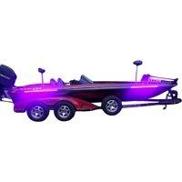 Fishing Vault High Output Ultra Violet UV Black Light LED Light Strip for Bass Boats & Night Fishing - Pack of 2