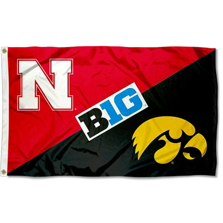 NCAA Iowa vs. Nebraska House Divided 3x5 Flag