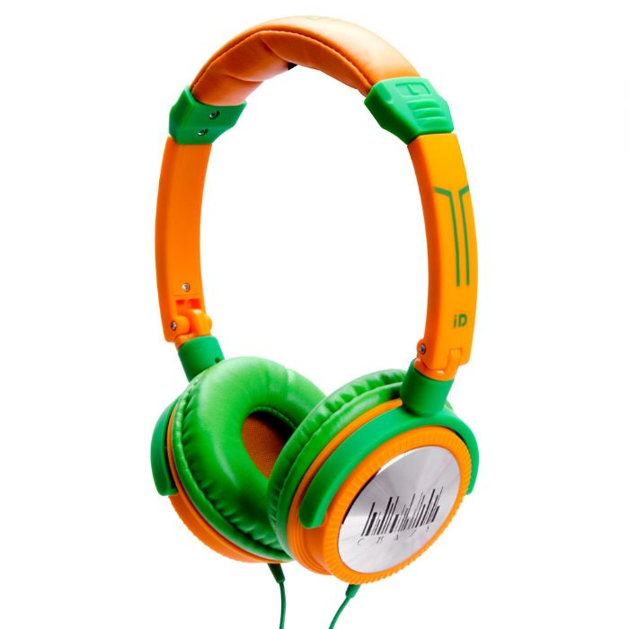 Idance CRAZY401 Orange & Green Dj Headphones Mic