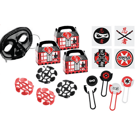 Ninja Star Party Favor Bundle for 12