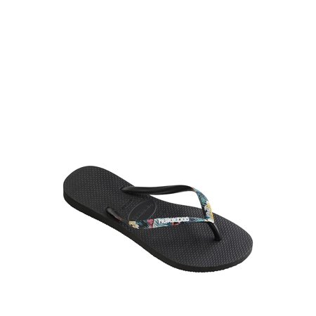 Slim Tropical Straps Flip Flops