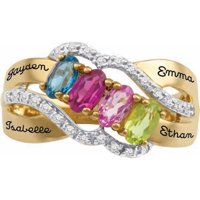 Personalized Family JewelryBirthstone Fondness Mother's Ring available in Sterling Silver, Gold and White Gold