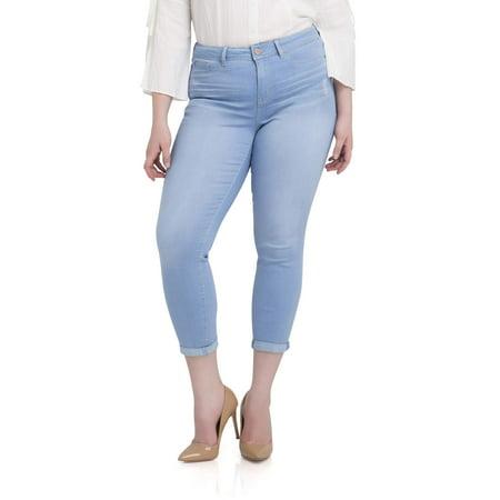 ba15e603656 Jordache - Jordache Women s Plus High Rise Super Skinny Ankle Jean -  Walmart.com