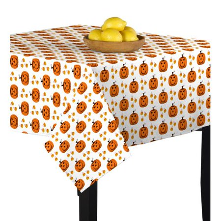 The Holiday Aisle Mcdermott Halloween Corny Pumpkins Tablecloth - Corny Halloween Sayings