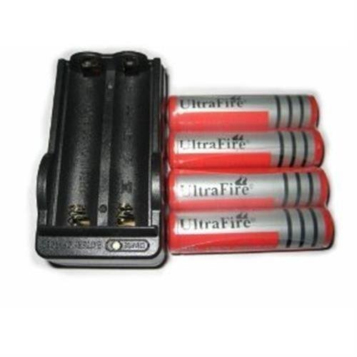 4 Ultrafire 18650 3000mah Li-Ion Rechargeable Protected Batteries + 1 Dual Smart Charger + FREE SHIPPING