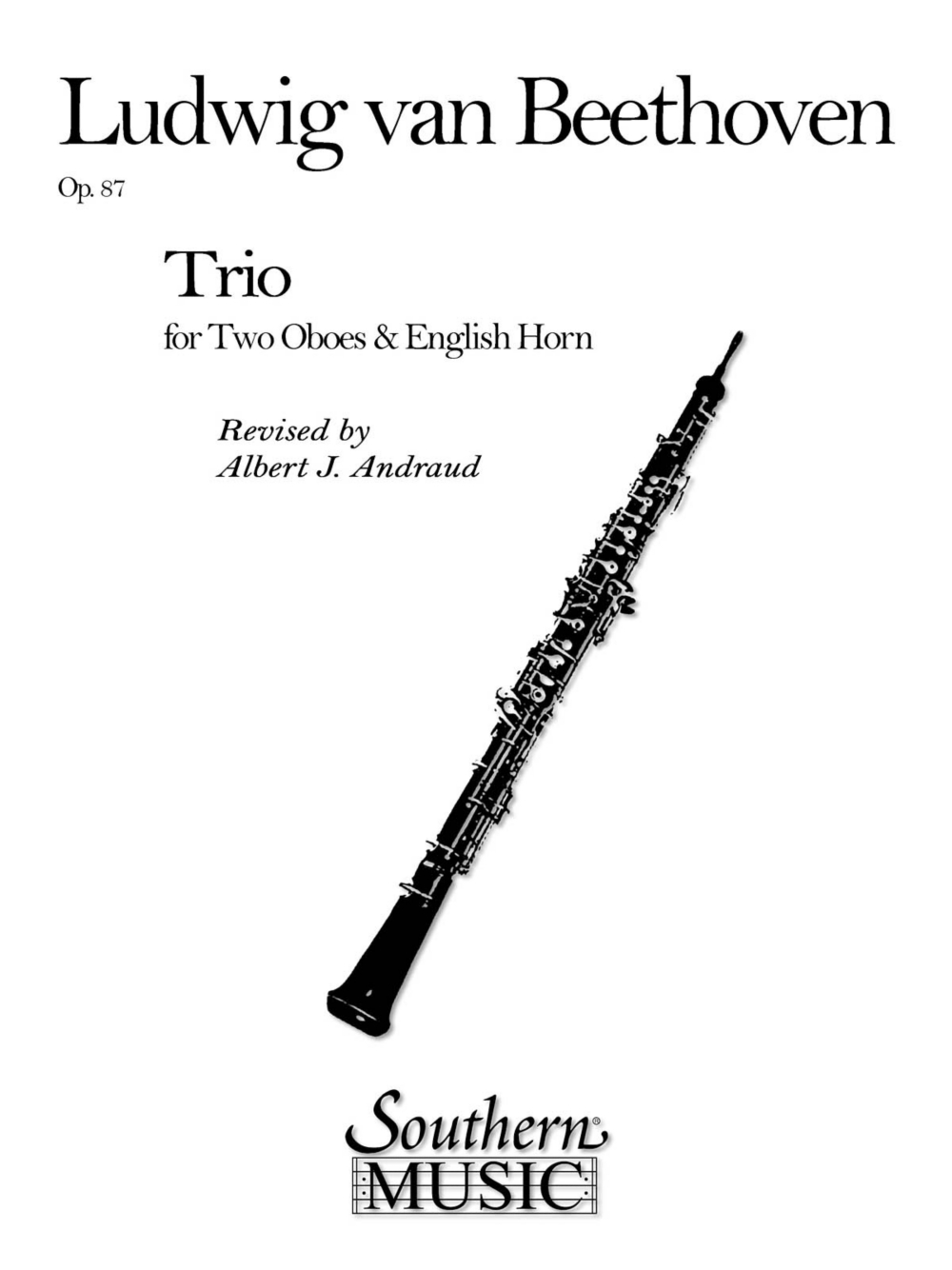 Southern Trio Op. 87 (2 Oboes English Horns) Southern Music Series Arranged by Albert... by Southern