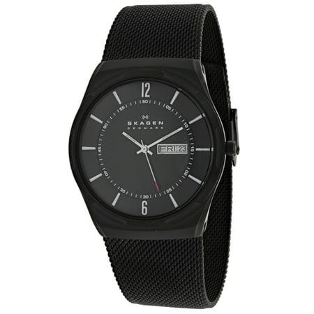 Skagen Titanium Watch - Skagen Aktiv Black Stainless Steel Mens Watch SKW6006