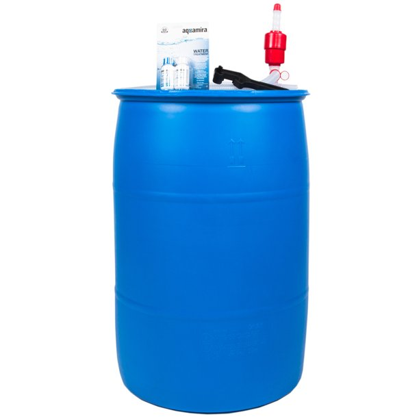 Augason Farms 55 Gal. Water Filtration and Storage Barrel Kit