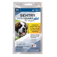 Sentry Fiproguard Plus Squeeze-On for Dogs, 89-132 Pounds, 3 Month Supply