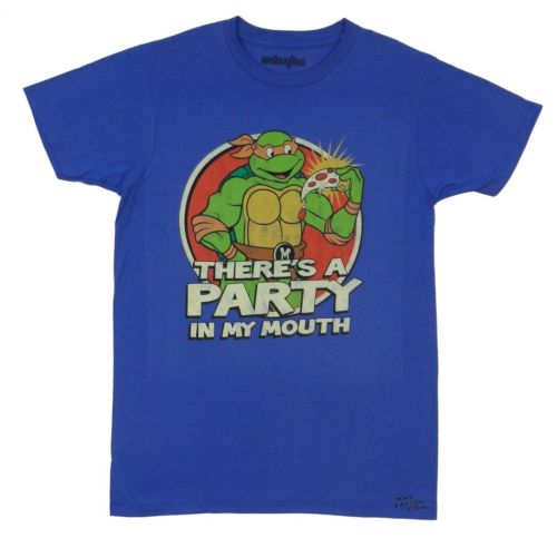 Teenage Mutant Ninja Turtles There Is A Party Pizza Adult T-Shirt