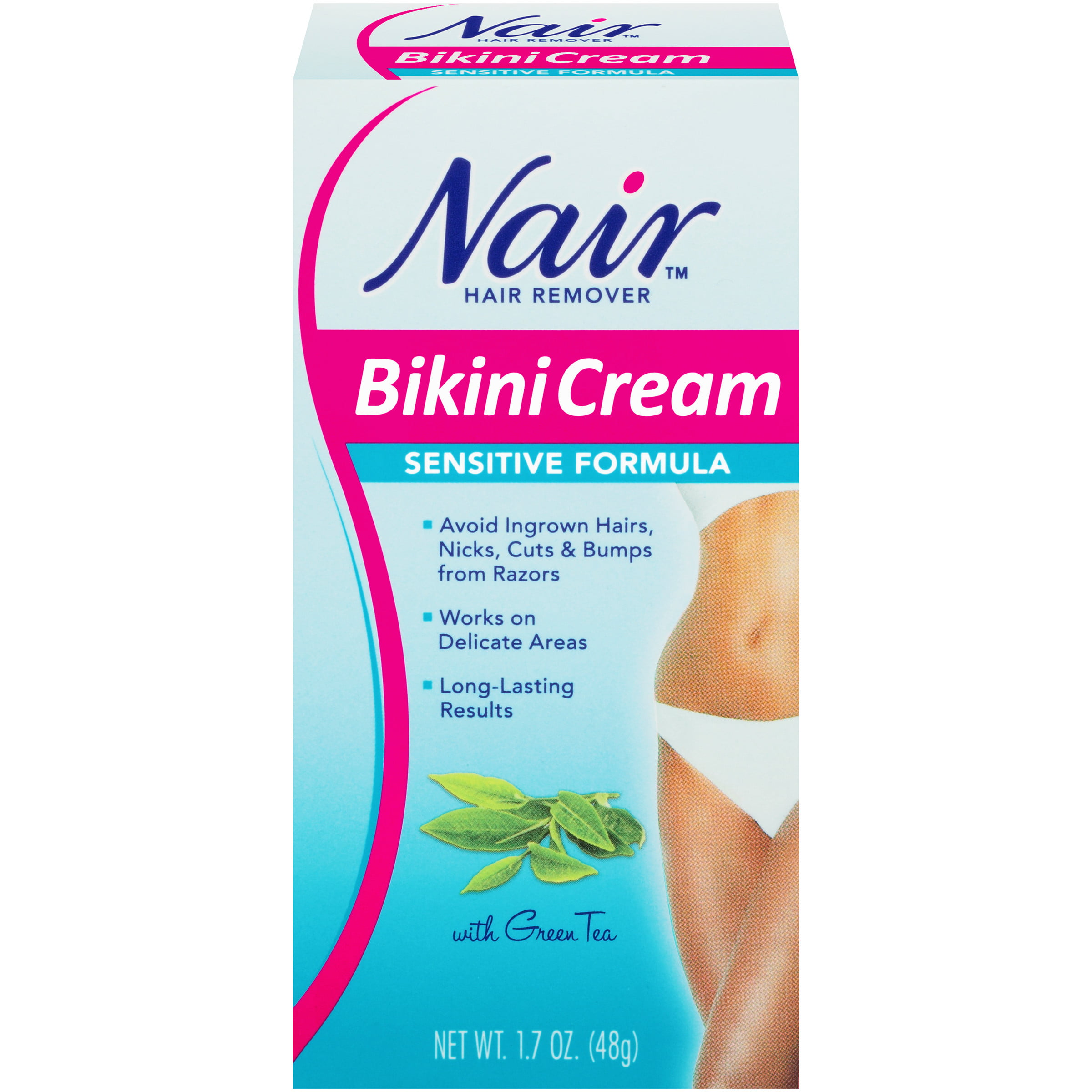 Nair Hair Remover Bikini Cream Sensitive Formula 1 7oz Walmart