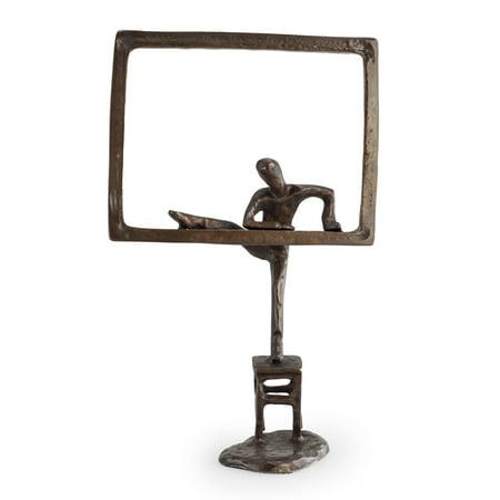 Child Sculpture - Danya B. Child Climbing out the Window Bronze Sculpture