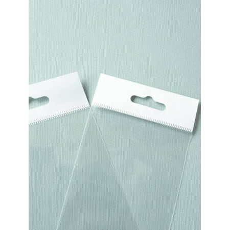 MyCraftSupplies 6x9 Inch HANG TOP Clear Self Adhesive Cello Bags for Retail Packaging or Display Set of 100