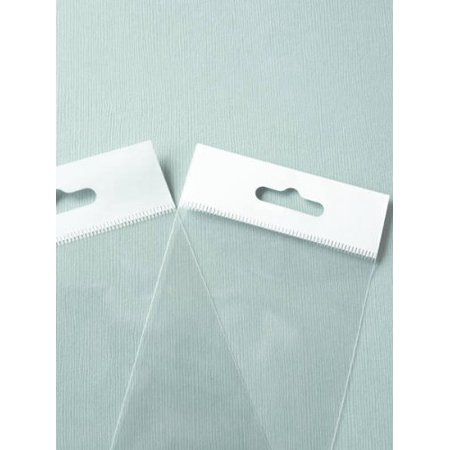 MyCraftSupplies 2 x 3 Inch HANG TOP Clear Self Adhesive Cello Bags for Jewelry Display or Beads Set of 100