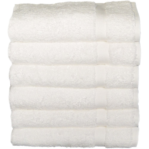 Baltic Linen Chelsea Heavyweight Hand Towels, 6pk, White