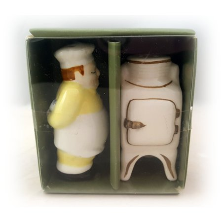 Midwest of Cannon Falls Inspiring Traditions Chef And Antique Stove Salt & Pepper Shaker Set