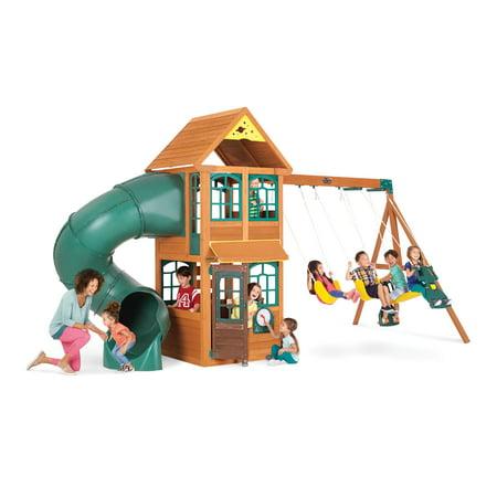 Big Backyard Cloverdale Wooden Playset By Kidkraft