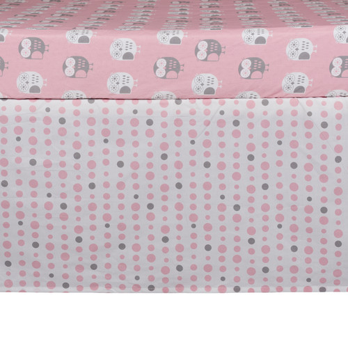 Lolli Living Pink Dots Bed Skirt
