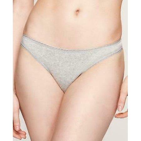 Charter Club Women Gray Pretty Cotton Thong Underwear Panties Size XS MSRP $7