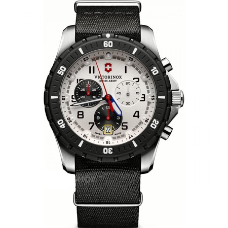 Victorinox Swiss Army Maverick Sport Chronograph White Dial Black NATO Nylon Men's Watch Model 241680.1