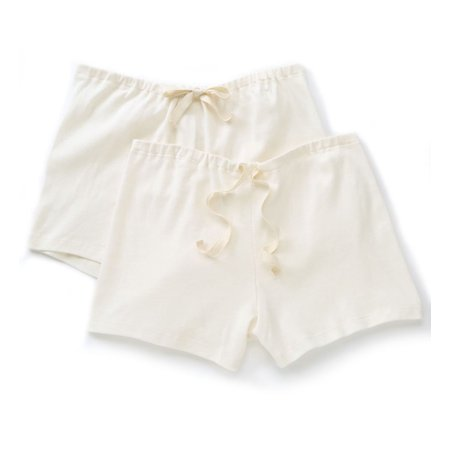 Women's Cottonique W22220N Natural Organic Cotton Boyleg Brief Panty - 2 Pack ()