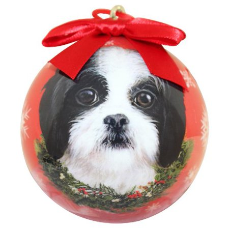 Shih Tzu Christmas Ornament Shatter Proof Ball Easy To Personalize A Perfect Gift For Shih Tzu Lovers