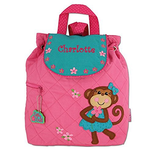 Personalized Pretty Monkey Embroidered Backpack, CUSTOM