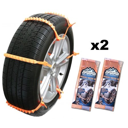 Zip Grip Go Cleated Tire Traction Snow Ice Mud Car Suv Van Truck