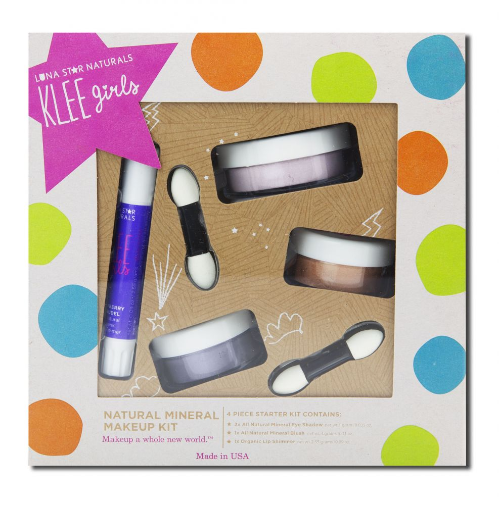 Luna Star - Klee Girls Natural Makeup, Makeup Kit - Glorious Afternoon 4 pc