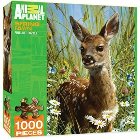 MasterPieces Animal Planet Spring Fawn - Deer 1000 Piece Jigsaw Puzzle by Carl Brenders for $<!---->