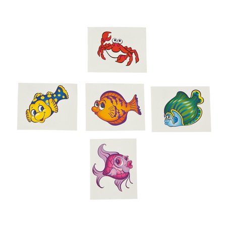 IN-70/4110 Tropical Fish Tattoos 72 Piece(s) By Fun Express