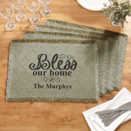 - Personalized Bless Our Home Placemat