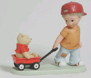 Disney and Me 4004011 Adventures are More Friendly with Two Boy Pulling Pooh by Enesco
