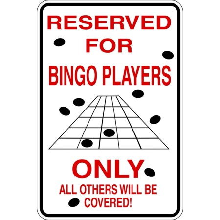 Custom Wall Decal Reserved For Bingo Players Boys Bed Room - Sticker - Vinyl Wall : 9 X18""