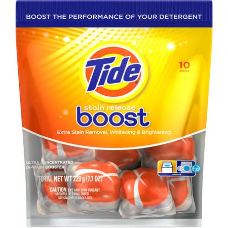 Tide Boost Stain Release In Wash Booster 10 Pacs
