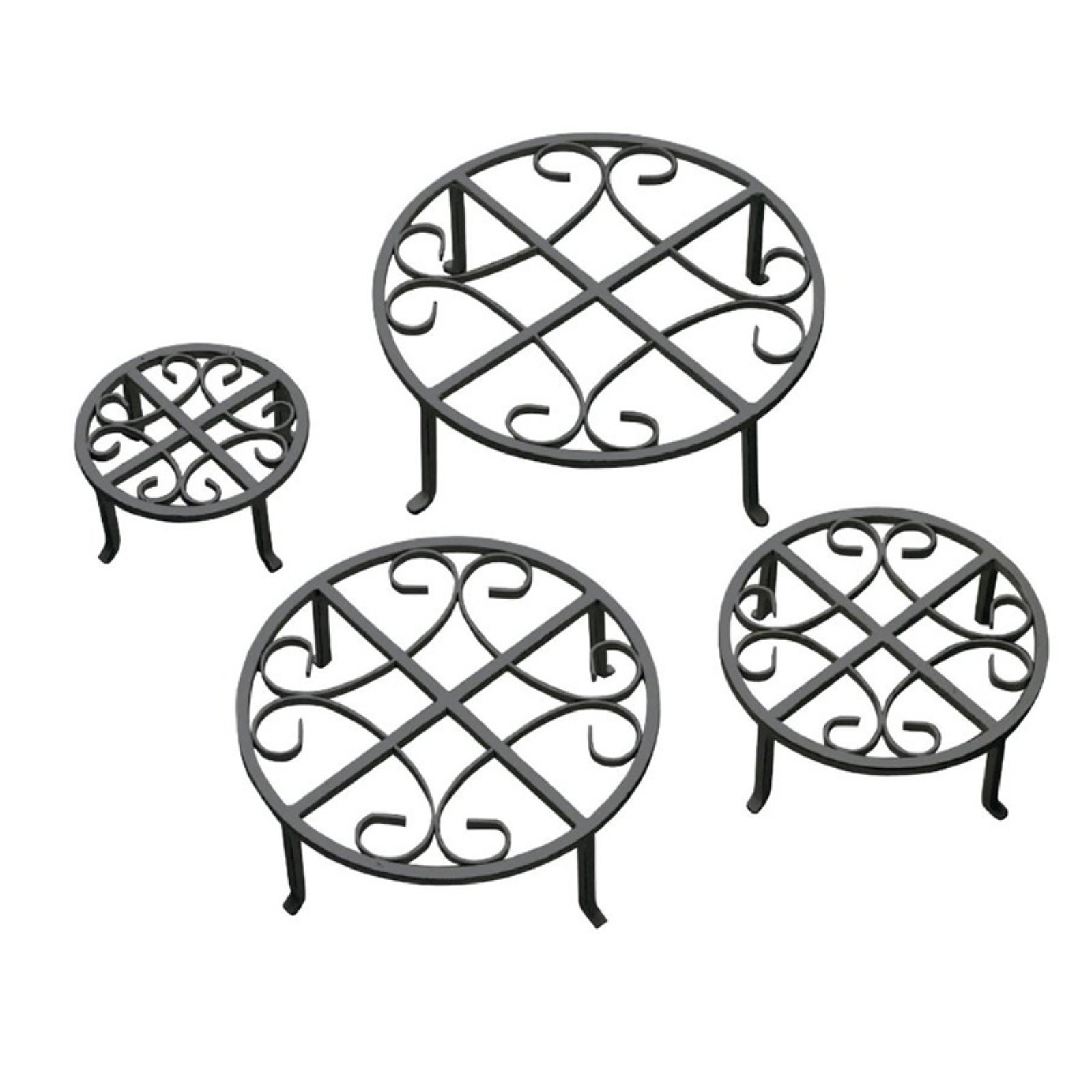 Red Carpet Studios Black Plant Stand Set of 4 by Red Carpet Studios