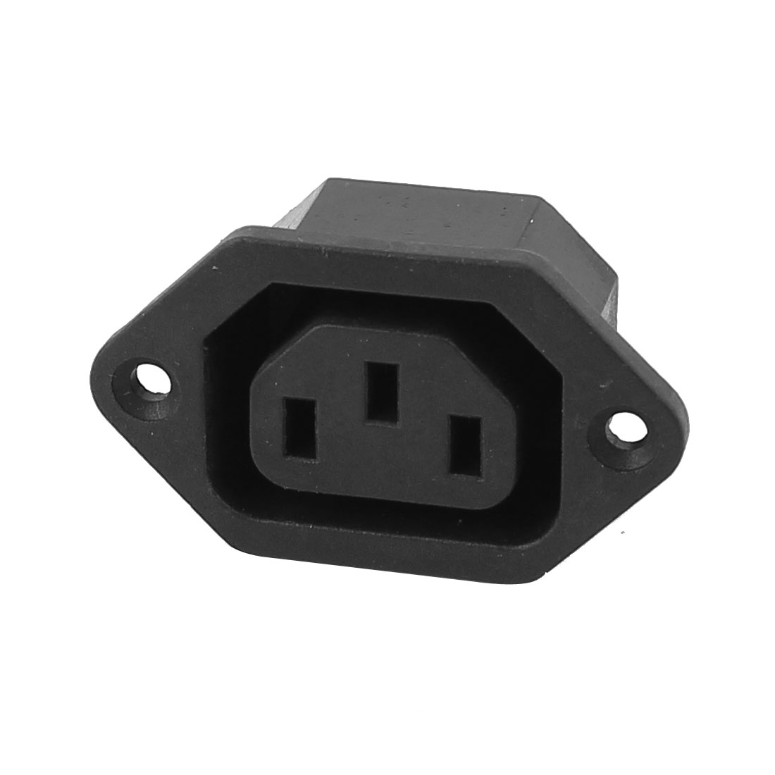 250V 10A IEC 320 C13 3 Pin Terminal Male Panel Mount Plug Connector Socket