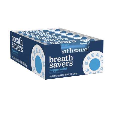Breath Savers, Peppermint Mints, 0.75 Oz (Pack of 24)