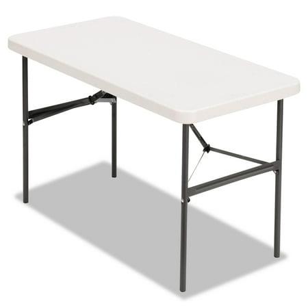 (Alera Banquet Folding Table, Rectangular, Radius Edge, 48 x 24 x 29, Platinum/Charcoal)