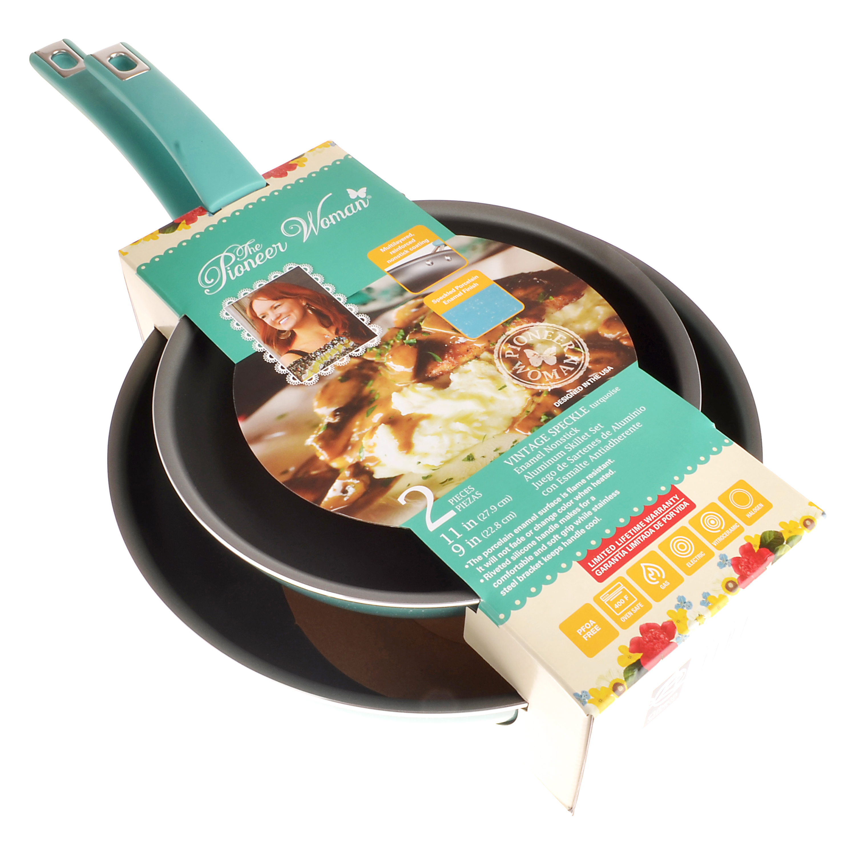 "The Pioneer Woman Pw Ns 11/9"" Skillet Turq"