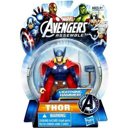Marvel Avengers Assemble Thor Action Figure [Lightning Hammer]](Thor Avengers Assemble)
