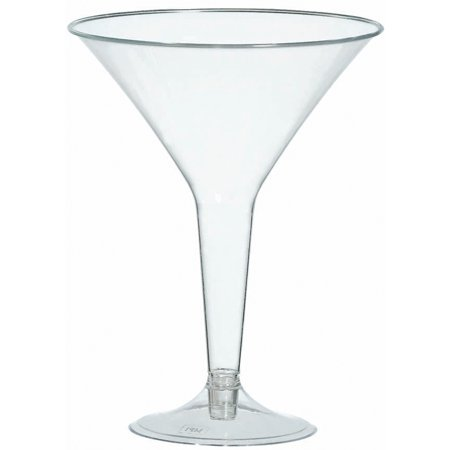 Mini Martini Glasses Plastic (Plastic Martini Glasses, 8 oz,)