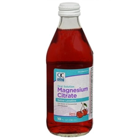 Magnesium Citrate Oral Solution (2 Pack Quality Choice Magnesium Citrate Oral Laxative Cherry Flavor 10oz Each )