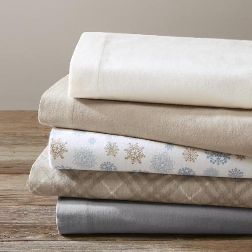 True North by Sleep Philosophy Cotton Flannel Sheet Set Twin-Ivory