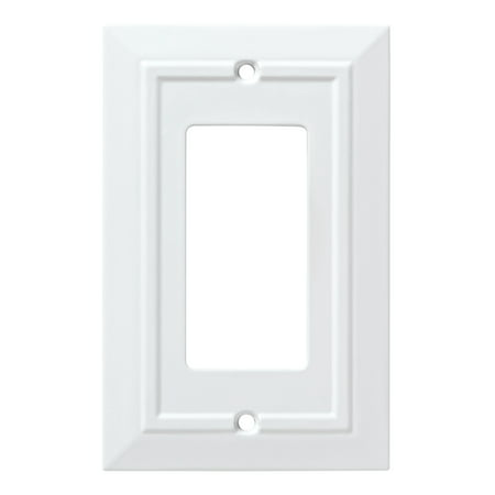 Franklin Brass Classic Architecture Single Decorator Wall Plate in Pure White