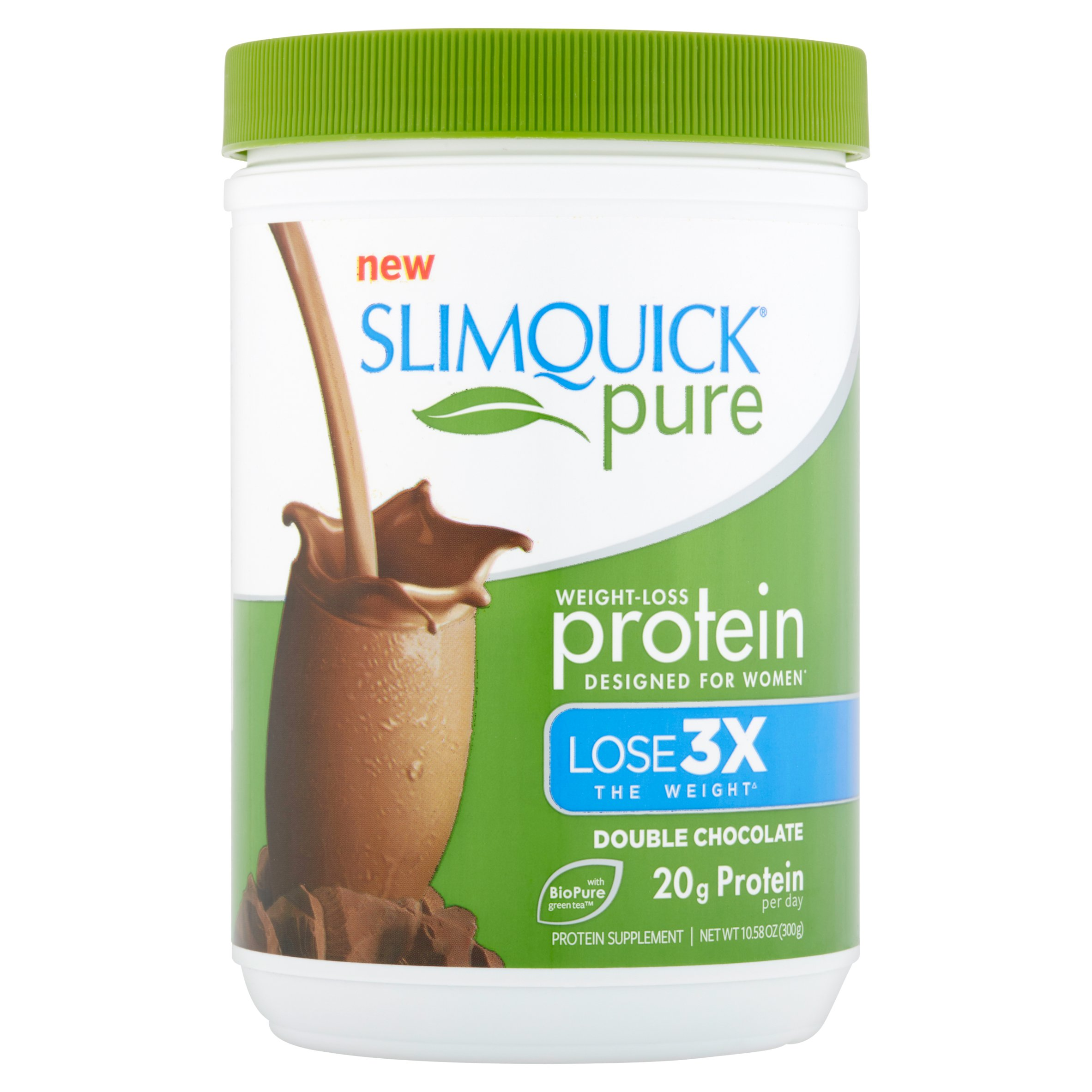 Slimquick Pure Weight-Loss Protein Double Chocolate, 10.58 oz ...