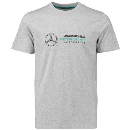 Mercedes Benz AMG Petronas Formula 1 Men's Gray Logo T-Shirt (M)