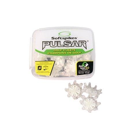 Golf Cleat Pulsar Clear/White Kit Fast Twist - Set of 18