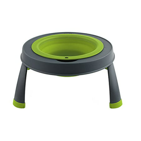 Dexas Popware Single Elevated Pet Feeder, Small ()