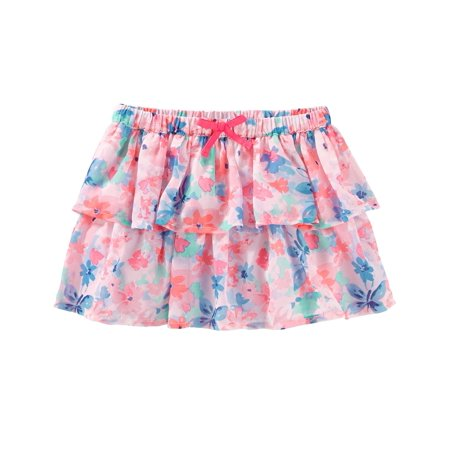 OshKosh B'gosh Baby Girls' 2 Tiered Floral Print Skirt, 6 Months